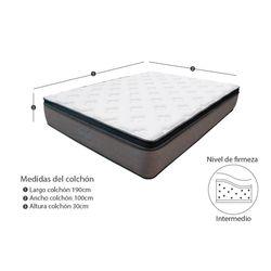 Combo-Colchon-Energy-Top-Sencillo-190-100-29Cm-Prot-Almohada-Gris-Blanco