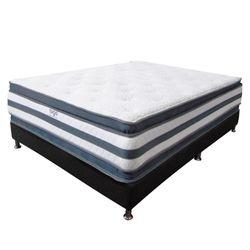 Combo-Colchon-Doble-Pillow-Sencillo-190-100-36Cm-Base-Cama-Gris-Blanco
