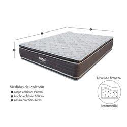 Colchon-Healthy-Sencillo-190-100-32Cm-Gris
