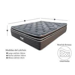 Combo-Colchon-Premium-Tugo-Sencillo-190-100-37Cm-Prot-Almoh-Gris