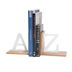 Apoya-Libros-A-Z-32-10-15Cm-Natural-Blanco