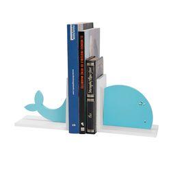 Apoya-Libros-Ballena-32-10-15Cm-Blanco-Azul