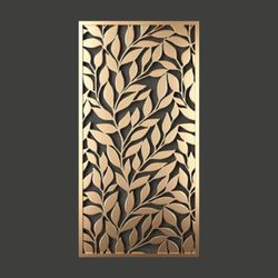 Cuadro-Decorativo-Leaves-60-30-1Cm-Dorado