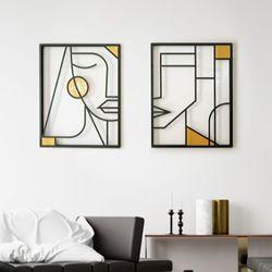 Set-2-Cuadros-Geometric-Face-60-40-1Cm-Colores-Varios