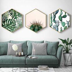 Set-3-Cuadros-Plants-35-30-2Cm-Colores-Varios