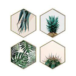 Set-4-Cuadros-Plants-35-30-2Cm-Colores-Varios