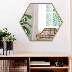 Espejo-Hexagonal-69-60-2Cm-Negro