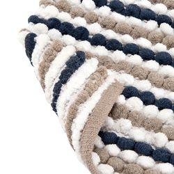Tapete-Baño-Cotton-Cubes-Gris-Claro-Azul