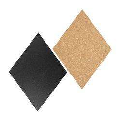 Set-4-Tableros-3-Corchos-Diamante-Y-Marcador-Blanco