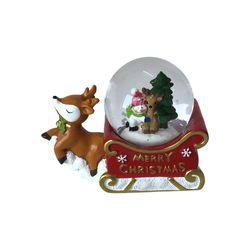 Navidad-Bola-D-Agua-Reno-Rojo