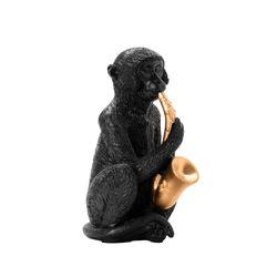 Figura-Mico-Saxofon-Negro-Dorado
