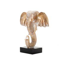 Figura-Cabeza-Elefante-Dorado